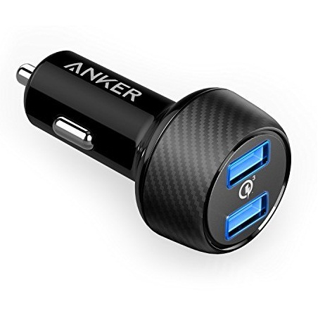Sạc Xe Hơi Anker 2 Cổng, 39w PowerDrive Speed 2 Quick Charge 3.0 - A2228